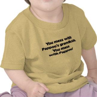 Don't Mess with Pappou's Grandkids T Shirt