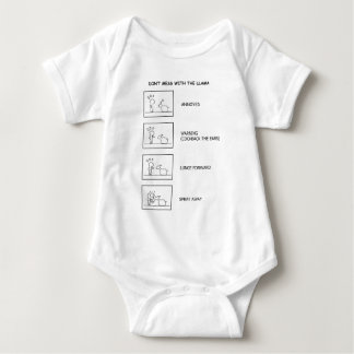 Dont Mess With The Llama Baby Bodysuit