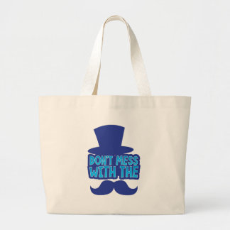 Don't mess with the Moustache Large Tote Bag
