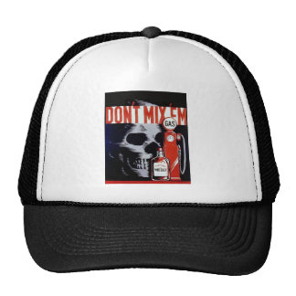 Don't Mix Them Skull Whiskey Gas Vintage poster Hats