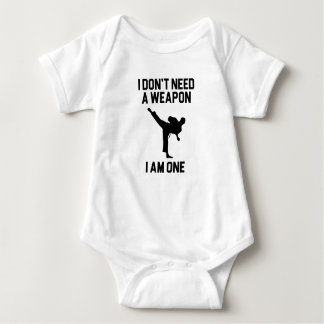 Don't Need a Weapon Baby Bodysuit
