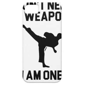 Don't Need a Weapon iPhone 5 Case