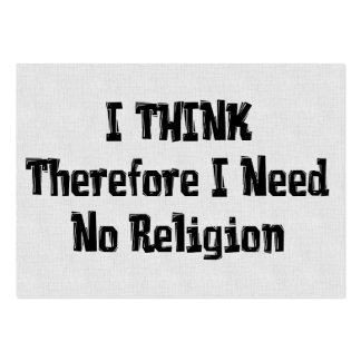 Don't Need Religion Pack Of Chubby Business Cards