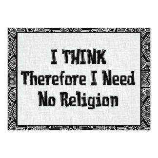 "Don't Need Religion 5"" X 7"" Invitation Card"