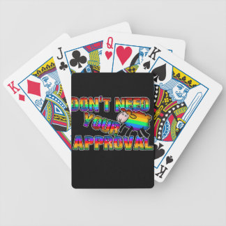 Dont need your approval bicycle playing cards