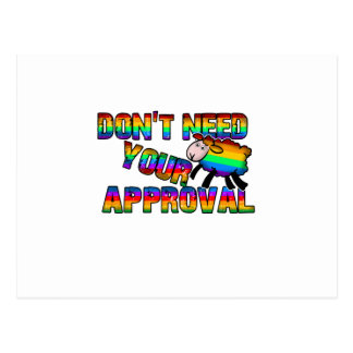 Dont need your approval postcard