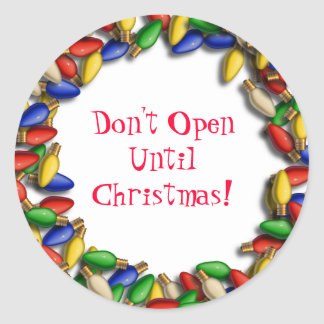 Don't Open Until Xmas sticker