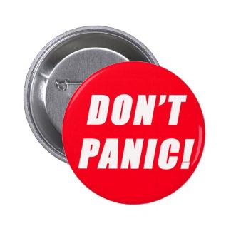 Don't Panic 6 Cm Round Badge