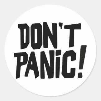 Don't Panic! Classic Round Sticker