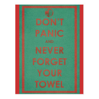 Don't Panic Funny Design Postcard