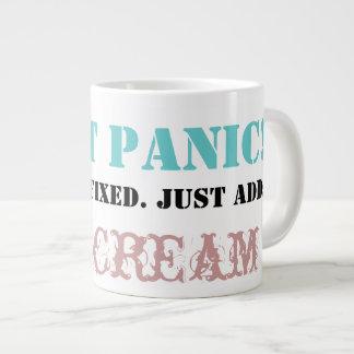 Don't Panic: Just add ICE CREAM! Jumbo Mug