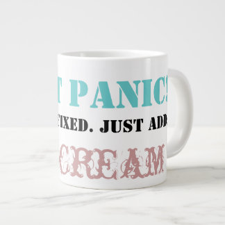Don't Panic: Just add ICE CREAM! 20 Oz Large Ceramic Coffee Mug