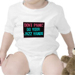 Don't Panic Sign- Do Your Jazz Hands Lt Blue/Pink Baby Creeper