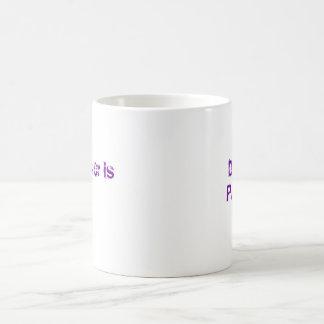 Don't Panic , the answer is 42 Coffee Mug