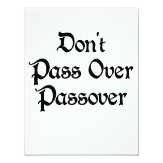 Don't Pass Over Passover Card