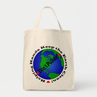 Don't Pollute Reusable Grocery Bag