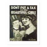 Don't Put a Tax on the Beautiful Girls Songbook Co Postcards