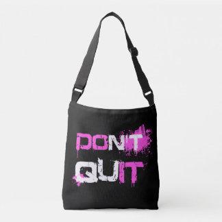 DON'T QUIT - DO IT paint splattered urban quote Crossbody Bag