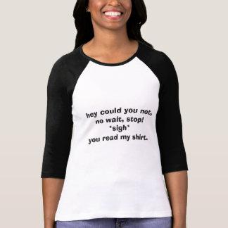 Don't read my shirt