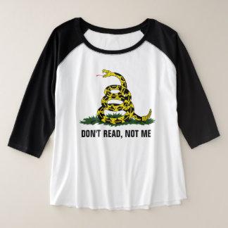 Don't Read, Not Me Plus Size Raglan T-Shirt