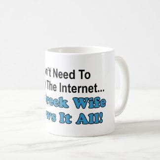 Don't Search Internet - Greek Wife Knows It All Coffee Mug
