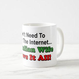 Don't Search Internet - Italian Wife Knows It All Coffee Mug