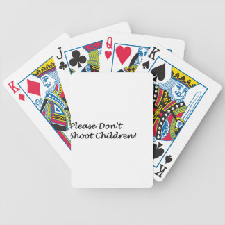 Dont Shoot Bicycle Playing Cards