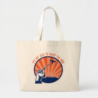 Don't shoot the bird tote bag