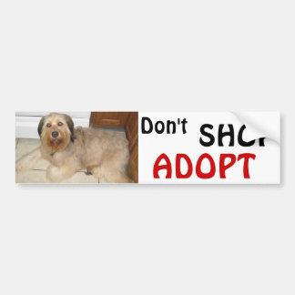 Don't SHOP ~ ADOPT! Bumper Sticker