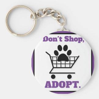 Don't Shop Adopt Key Ring