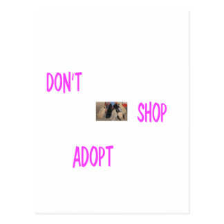 dont shop adopt postcard