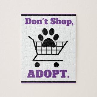 Don't Shop Adopt Puzzle