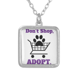 Don't Shop Adopt Silver Plated Necklace