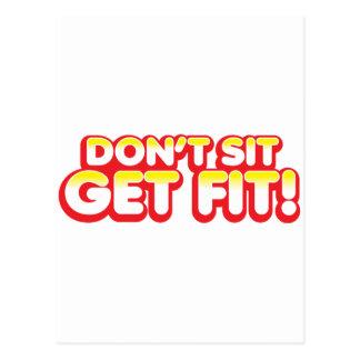 Don't SIT GET FIT! Postcard