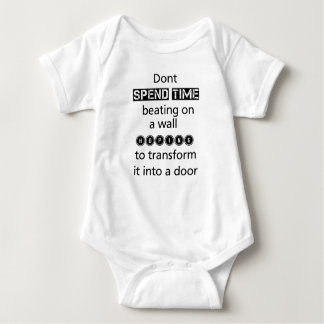 dont spend time beating on a wall hoping to transf baby bodysuit