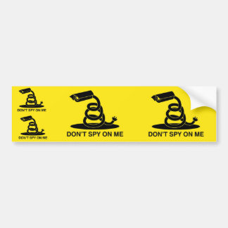 Don't Spy On Me Gadsden Flag Bumper Sticker