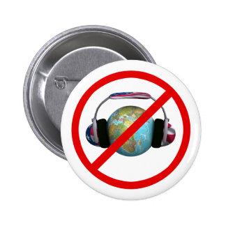 Don't Spy The World 6 Cm Round Badge