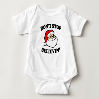 Don't Stop Believin' Funny baby Christmas Shirt