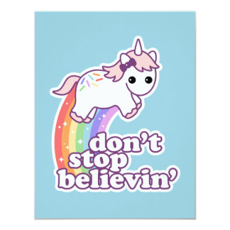 Don't Stop Believin' in Unicorns Card