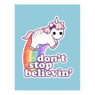 Don't Stop Believin' in Unicorns Postcard