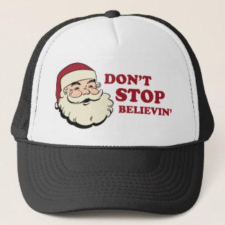 Don't Stop Believin' Santa Trucker Hat