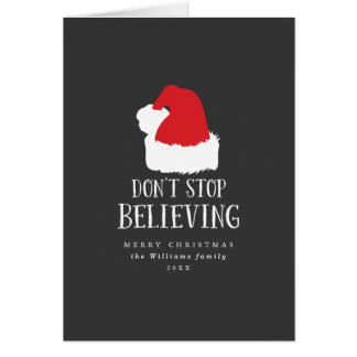 Don't Stop Believing Christmas Card