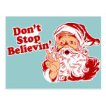 Dont Stop Believing Christmas Post Cards
