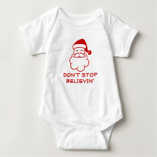Don't stop believing | Funny Santa Claus jumpsuit