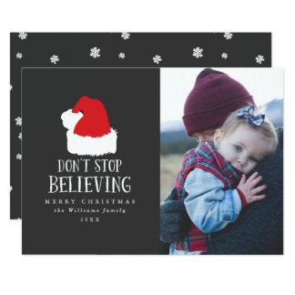Don't Stop Believing Photo Christmas Cards