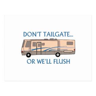Don't Tailgate.... Postcard