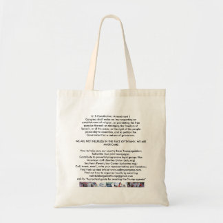 Don't take Trumpageddon lying down Tote Bag
