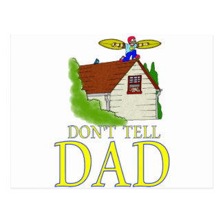 Don't tell DAD flying Postcard