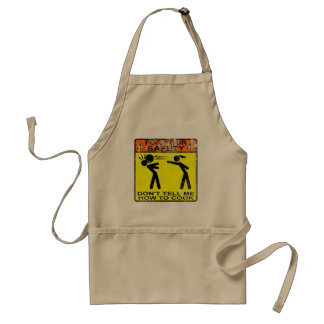 Don't tell me how to cook! standard apron