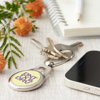 Dont Text and Drive Silver-Colored Oval Key Ring